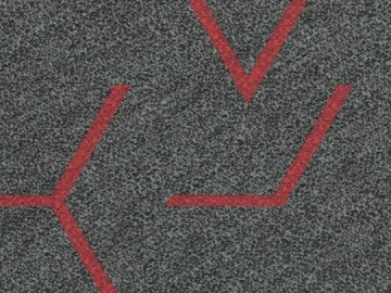Forbo Flotex Triad, 131011 red line