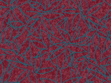 Forbo Flotex Floral, 500018 Field Cranberry