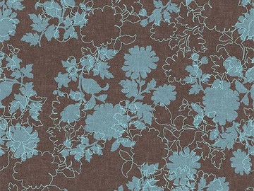 Forbo Flotex Floral, 650007 Silhouette Mocha