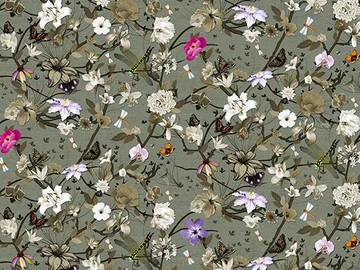 Forbo Flotex Floral, 840006 Botanical Cyclamen